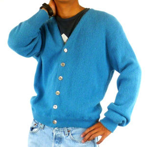 Ferranti California Alpaca Cardigan Wool Sweater M